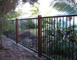 Kwila posts with Pool fence panels